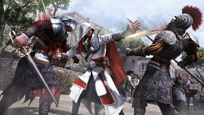 The hidden gun lends a bit more emphasis to Ezio's counterkills.