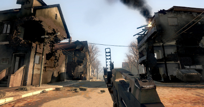 Bad Company's destructible landscapes posed some interesting tactical possibilities.