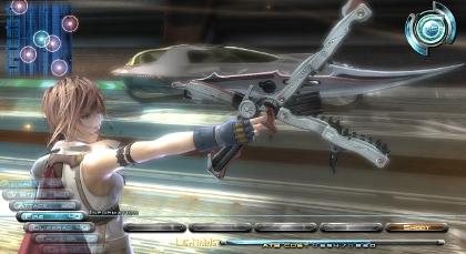 Sword? Gun? Pair of crocodile scissors? Make your mind up, Lightning.