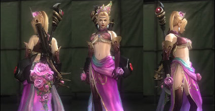 Rachel borrows some threads from the Dynasty Warriors crew.